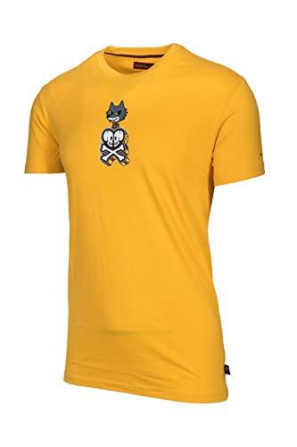 AS Roma Tokidoki, Camiseta manga corta hombre, Amarilla, XL