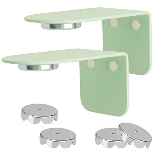bremermann Magnet-Seifenhalter PUREZZA - frei hängende Seife durch Magnet - Kleben oder Bohren, hellgrün, 2er-Set