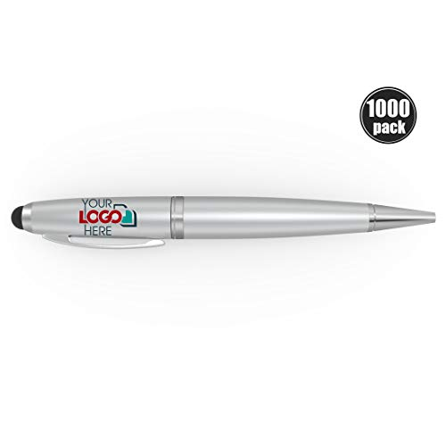 Possibox Bolígrafo Memoria USB Personalizada 32GB para Publicidad Pen Drive con Logotipo/Texto - al por Mayor - USB 2.0 Plata, 1000 Piezas