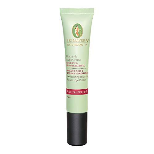 PRIMAVERA Revitalpflege Glättende Augencreme Rose Granatapfel 15 ml - Naturkosmetik - fältchenmildernd und -vorbeugend für reife Haut - vegan