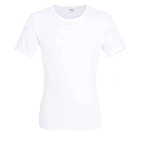 Ceceba Herren T-Shirt Classic Doppelripp CITYLINE - 2er Pack, Größe:5, Farbe:White (1000)