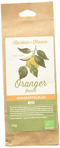 L'Herbier de France Oranger Feuilles Sachet Kraft Bio, 25 g
