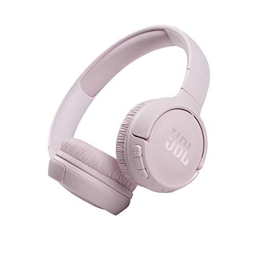 JBL TUNE 510BT – Auriculares inalámbricos on-ear con tecnología Bluetooth, ligeros, cómodos y plegables, hasta 40h de batería, Siri y Asistente de Google, con conexión multipunto, rosa