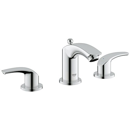 Grohe Eurosmart New 8 in. Widespread 2-Handle 3-Hole Bathroom Faucet - 1.2 GPM