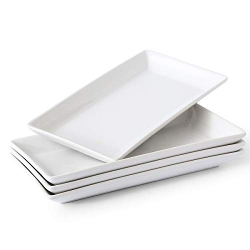 Porcelain Serving Platters Rectangular Trays White