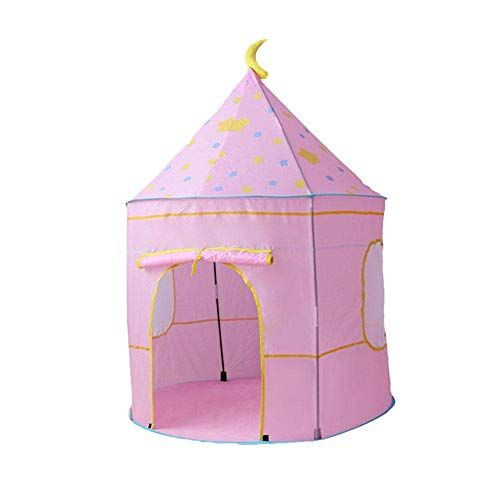 Qazxsw Tipi Tent for Children Play Tent, Perfect for Indoor and Outdoor Use, Blue, Pink Blue