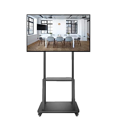 Supporto TV da pavimento Carrello TV Soporte de Suelo para TV para televisores LED LCD de 40-75 Pulgadas, Carro de TV móvil de Estilo Moderno para Bar/Centro de Entretenimiento, Altura Ajustable