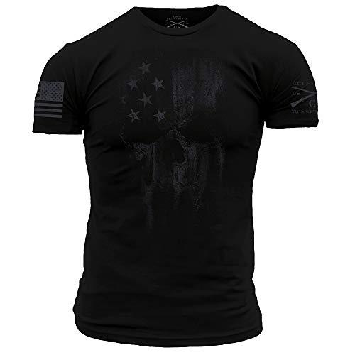 Grunt Style American Reaper 2.0 – Men's T-Shirt (Spectre Black, XX-Large)