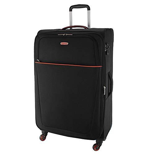 Rocklands 1017-4 - Maletas de equipaje con 4 ruedas, Black (Negro) - RL1017-4