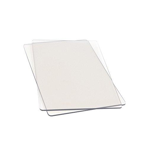 Sizzix de rechange Planche à découper Boîte, 22, 5 x 15, 5 cm, Lot de 2, Plastique, Transparent, 26.402 x 19.098 x 1 cm