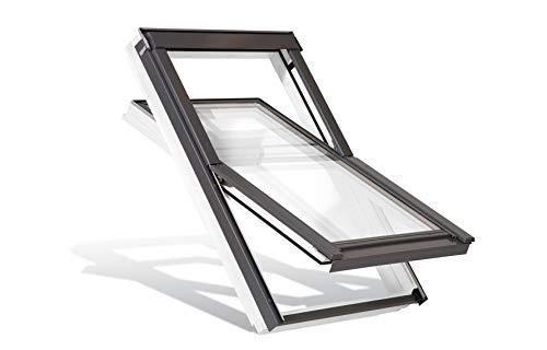 YARDLITE Centre-Pivot AAX M8A (78x140cm) Roof Window & KFP Flashing