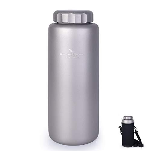 iBasingo 1050 ml/ 600ml Titan wasserflasche Im Freien Auslaufsicher Breiter Mund Sport Trinkflasche Camping Tee Kaffee Kantine Wasserkessel für Wandern Klettern Laufen