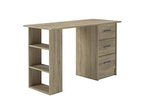 ConfortChoice - IDEA - Schreibtisch - Computertisch Arbeitstisch - Laptoptisch Büromöbel - Tische Office Table - 120 x 49 x 72 (Braun)