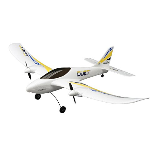 HobbyZone Duet RTF RC Trainer Airplane with 3-Channel Transmitter, Built-In Charger, 150mAh 1S LiPo Battery, 4 x AA Alkaline: HBZ5300