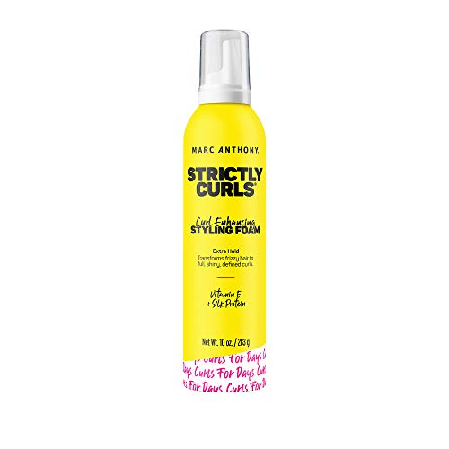 Marc Anthony Strictly Curls Curl Enhancing Styling Foam, 10 Ounce Foaming Canister, Curl Enhancing Styling Foam (Packaging May Vary)