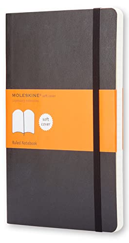 Moleskine classic notebook, soft cover, large (5' x 825') ruled/lined,...