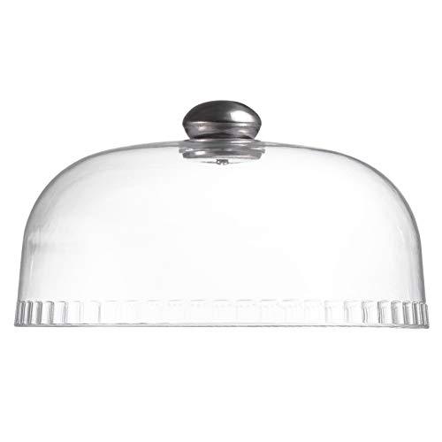 NUOBESTY Cubierta de cristal para tartas con forma de cúpula de queso alto, para desierto, postre, exhibición de campana, para merienda, servir frutas, cúpula transparente