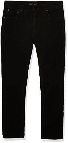 Nudie Jeans Unisex-Erwachsene Lean Dean Black Cord Jeans, Schwarze Kordel, 33W x 36L