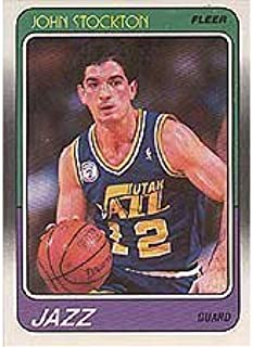 Fleer John Stockton 1988/1989 Near Mint to Mint Rookie Card #115 in Protective Screw Down Holder