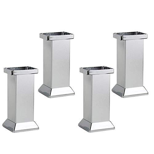 ZYFA poten voor meubels, aluminiumlegering, metalen tafelpoten, voor eettafel, salontafel, kasten, enz. (4 delen, incl. bevestigingsschroeven)