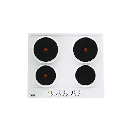 Faure FEE6942FWA plaque Intégré Plaque scellée Blanc - Plaques (Intégré, Plaque scellée, Blanc, 1000 W, Rond, 14,5 cm)