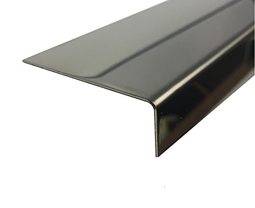 Eckschutzschiene Edelstahl Spiegel Treppenleiste 1000 mm VA 1.4016 Kantenschutz 0,8mm (10 x 40 x 0,8 mm)