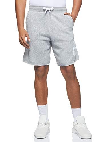 Nike Herren M NSW HE Short FT Alumni Sport, dk Grey Heather/dk Grey Heather/White/(White), M