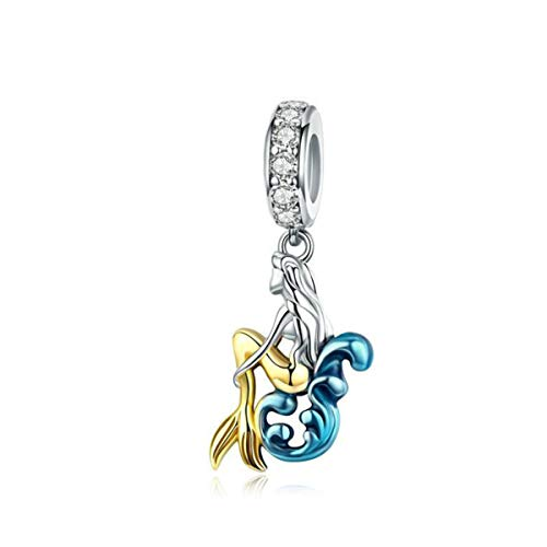 Charm a forma di uccellino in argento Sterling per braccialetti Pandora (Ocean Mermaid Charms per braccialetti)