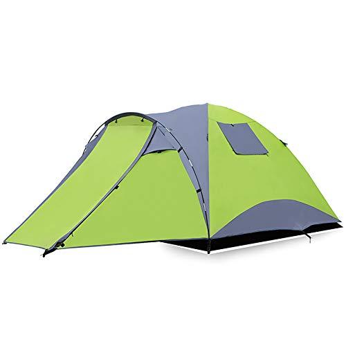 ZXD Tienda de Campaña para 3-5 Personas, Impermeable Tienda Iglú Familiar, Tienda de Doble Capa, Fácil de Instalar, para Camping, Senderismo, Picnic,Verde