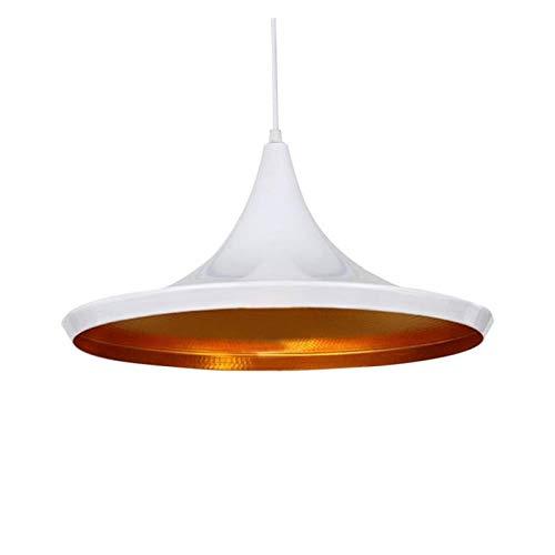 LHYLHY Aluminio Loft Industrial Colgante Luz Negro/Blanco Lámparas Lámpara Barra De Café Colgando Iluminación Interior Bedroom (Body Color : 36 x 18cm)