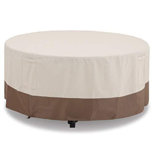 PHI VILLA Abdeckung für Rechteckigen und Ovalen Gartentisch mit Stühlen, Gr.L