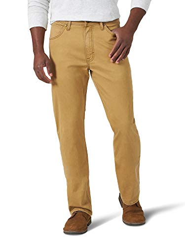 Wrangler Authentics Men's Authentics Straight Fit Twill Pant, Brushed Almond, 36W x 30L