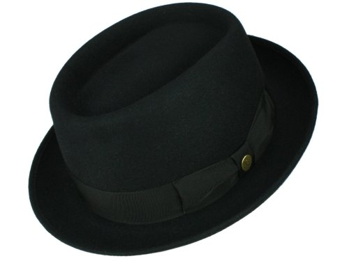 Guerra Homme Chapeau Porkpie Lapin noir