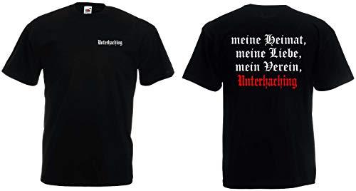 World of Shirt Herren T-Shirt Unterhaching Ultras Meine Heimat