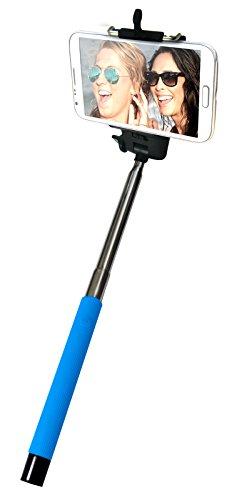 Ideus HOSELFIEBTBL - Palo Extensible con Soporte Universal para Selfie, Color Azul
