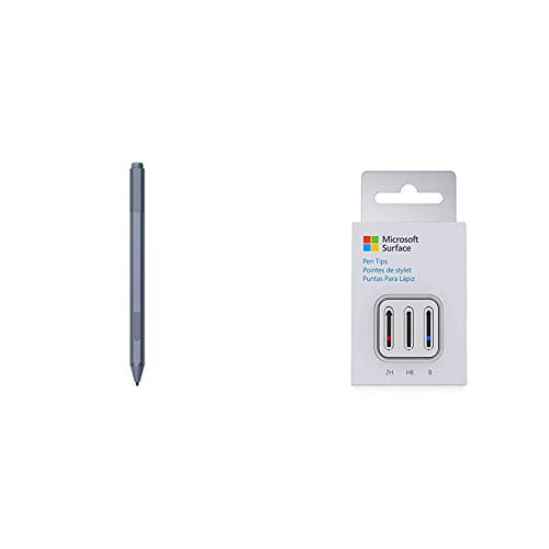 Microsoft Surface Pen - Ice Blue, and Microsoft Surface Pen Tip Kit