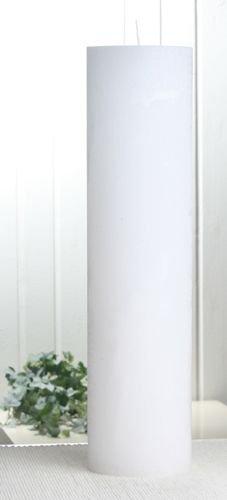 Rustik-Stumpenkerze, 40 x 10 cm Ø, weiß