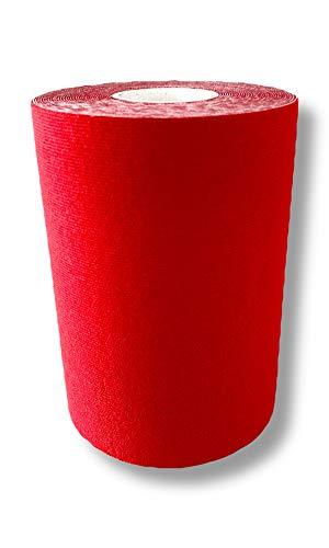 FixTape Kinesio-Tape 10cm x 5m I latexfrei - wasserfest - luftdurchlässig I hautfreundlich & besonders elastisch für optimale Bewegungsfreiheit I Kinesiologie Tape I Tape Kinesio 5m (Rot)