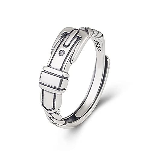 ILOVE - Anello da donna in argento Sterling 925, con anello regolabile e invisibile in confezione regalo