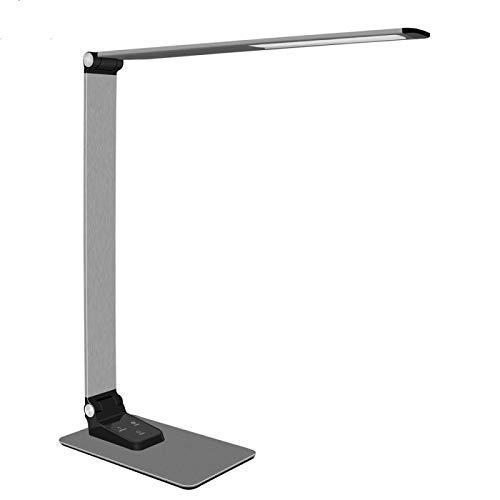 Lámpara de escritorio 9 W Super Thin Aluminio Lámpara de Escritorio 9 Birghtness Touch Dimmer USB Carga Teléfono LED Plegable Trabajo Lámpara de Escritorio para Lectura EUPlug