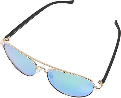 Urban Classics Unisex Sunglasses Mumbo Mirror UC Sonnenbrille, gold/green, one size