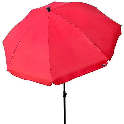 Aktive- Sombrilla Filtro Uv, Color rojo, Diámetro 240 cm (85305)