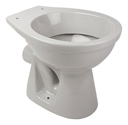 \'aquaSu® 56174 7 Stand-WC | Tiefspüler | Abgang waagerecht | Manhattan | Grau | Toilette | Keramik | Gäste-WC | Bad | Badezimmer