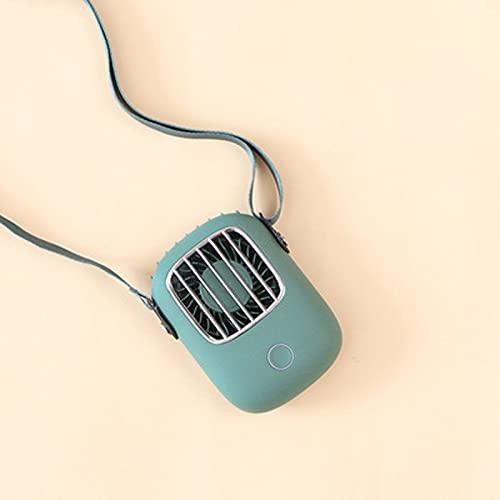 USB Lade Kleiner Lüfter Tragbarer Ventilator mit Seilaufhängung 3 Geschwindigkeiten,Mini Portable Lüfter Persönliche Halskette Wiederaufladbare Lüfter für Ballspiel,Camping,Reisen