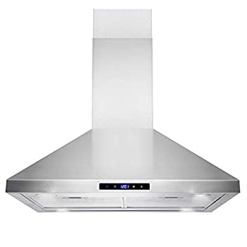GOLDEN VANTAGE 36 Wall Mount Stainless Steel Range Hood With Remote GV-Z01-36