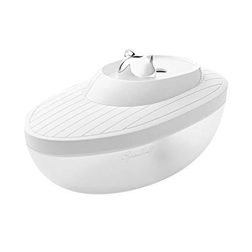 WTTCD White Yacht Humidificador De Dormitorio Usb Big Spray Mini Humidificador Spray De Doble Velocidad Led Luz Nocturna Humidificador Para Dormitorio Habitación Infantil-Blanco
