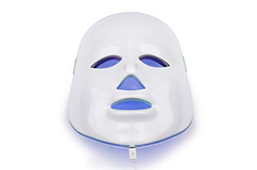 NORLANYA Facial Toning LED Mask Wrinkle Remove Acne Clearing Anti Aging Skin Caring Device - Blue...
