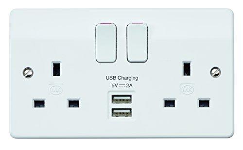 13A-clip on face plate-top qualité Mk avant gamme unique switched socket
