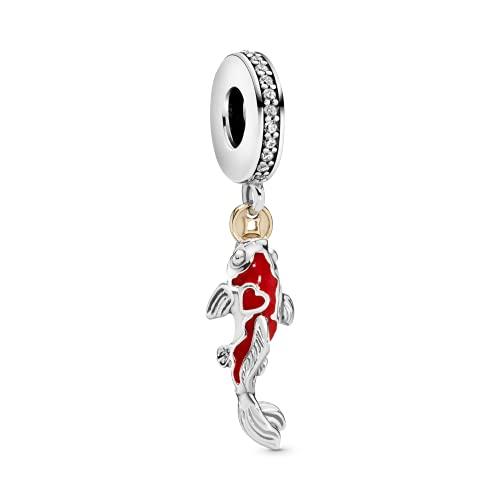 Pandora 925 joyería de plata esterlina colgantenovo prata esterlina encantos boa fortuna carpa peixe balançar charme caber pulseira de prata jóias