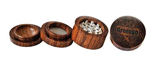 Greengo 18714 Metal Double Grinder 4 parts-517546-Anja Wood-Diameter: 50 mm, Holz